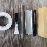 инструменты для установки наклейки на кий