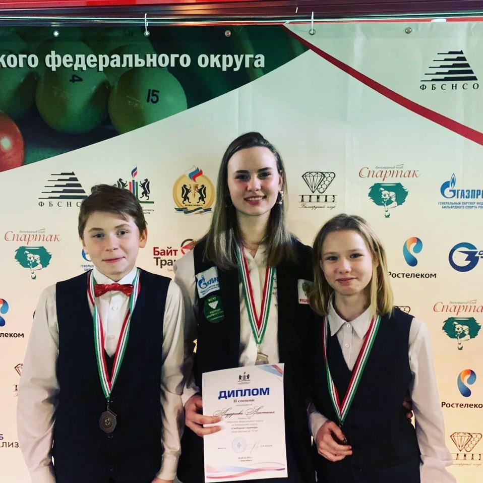 награждение участников чемпионата СФО по бильярду